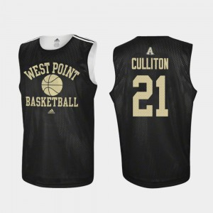 Will Culliton Army Jersey #21 Adidas College Basketball Practice For Men's Black