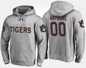 For Men's #00 Gray AU Custom Hoodie Name and Number