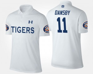 Karlos Dansby Auburn Tigers Polo Men's White Name and Number #11