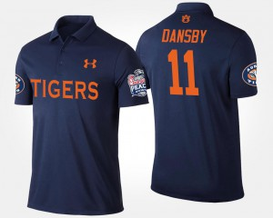 Peach Bowl Name and Number #11 Mens Bowl Game Navy Karlos Dansby AU Polo