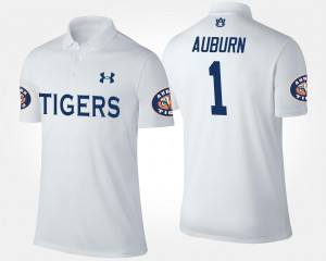 No.1 Short Sleeve #1 Name and Number White Mens AU Polo