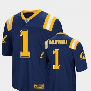 Colosseum Authentic For Men Navy Foos-Ball Football #1 Cal Bears Jersey