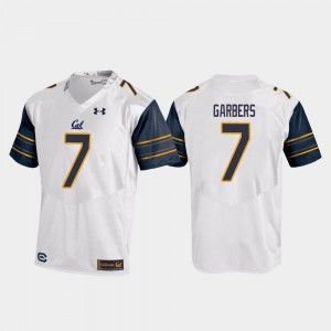 For Men's Chase Garbers Golden Bears Jersey White College Football #7 Replica Under Armour