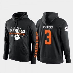 #3 College Football Pullover For Men Black Amari Rodgers Clemson University Hoodie 2018 National Champions