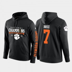 Chase Brice Clemson Tigers Hoodie 2018 National Champions #7 Black College Football Pullover For Men's