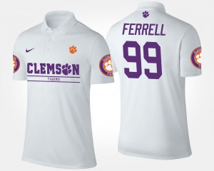 Name and Number White Mens Clelin Ferrell CFP Champs Polo #99