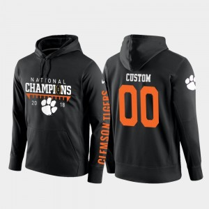 For Men's College Football Pullover #00 Black CFP Champs Customized Hoodie 2018 National Champions