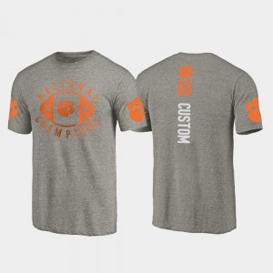 #00 2018 National Champions For Men's College Football Playoff Fanatics Branded Gray Clemson Custom T-Shirts
