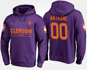 Clemson Customized Hoodies Name and Number #00 Men Purple