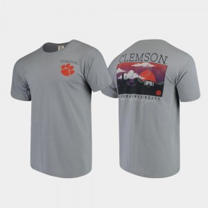 CFP Champs T-Shirt Gray Comfort Colors Campus Scenery For Men's
