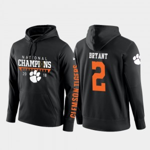 Kelly Bryant Clemson University Hoodie Mens 2018 National Champions #2 College Football Pullover Black