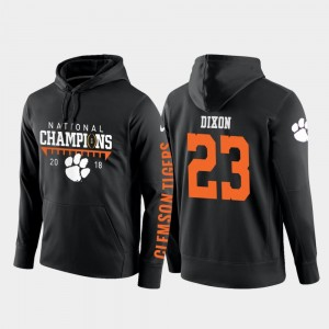 Black 2018 National Champions Mens Lyn-J Dixon CFP Champs Hoodie #23 College Football Pullover