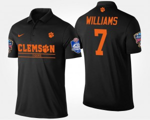 Mike Williams Clemson Polo For Men Black Bowl Game #7 Atlantic Coast Conference Sugar Bowl Name and Number
