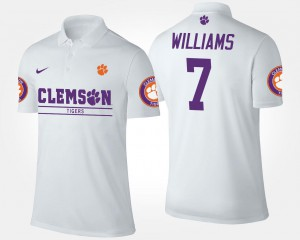 Mike Williams Clemson Tigers Polo White Name and Number #7 Men's