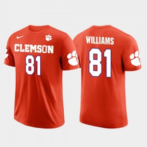 Future Stars #81 For Men's Mike Williams Clemson University T-Shirt Los Angeles Chargers Football Orange
