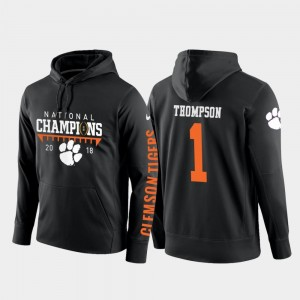Black College Football Pullover #1 2018 National Champions Trevion Thompson Clemson Hoodie For Men