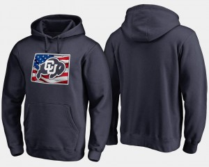Men's Big & Tall Buffaloes Hoodie Navy Banner State