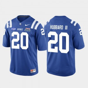 Royal 2018 Independence Bowl College Football Game Marvin Hubbard III Duke Jersey Mens #20