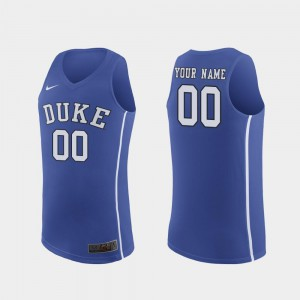 Blue Devils Customized Jersey March Madness College Basketball #00 Authentic Men's Royal