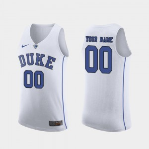 Duke University Customized Jersey March Madness College Basketball Authentic #00 For Men's White