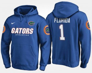 Men's Name and Number Blue No.1 #1 Florida Hoodie