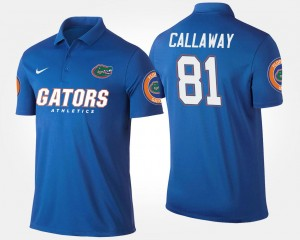 Mens Antonio Callaway University of Florida Polo Blue #81 Name and Number