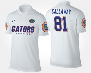 Name and Number #81 White Antonio Callaway UF Polo Mens