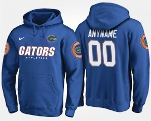 #00 Blue Men's Florida Gators Customized Hoodie Name and Number