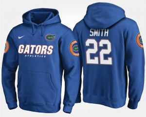 Blue Men's #22 Emmitt Smith Florida Gators Hoodie Name and Number