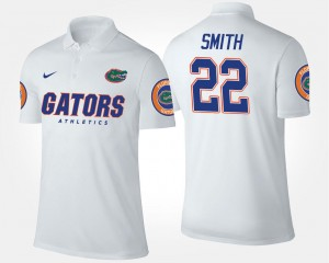 Emmitt Smith UF Polo White Name and Number Men's #22