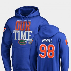 2018 Peach Bowl Bound #98 Jorge Powell University of Florida Hoodie For Men's Royal Fanatics Branded Counter