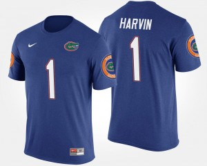 Percy Harvin Florida Gators T-Shirt Blue Name and Number Mens #1