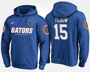 Name and Number Tim Tebow Florida Hoodie Blue #15 Men's