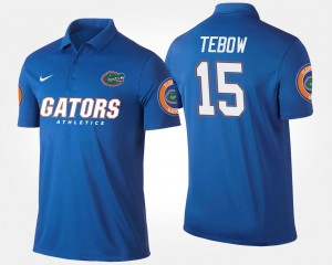 Name and Number Tim Tebow University of Florida Polo Blue For Men's #15