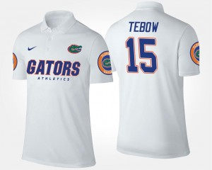 Name and Number White For Men #15 Tim Tebow Florida Polo