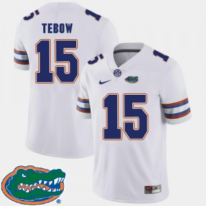 Tim Tebow UF Jersey #15 2018 SEC Mens College Football White