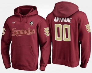 Garnet Mens Name and Number #00 Florida State Customized Hoodies