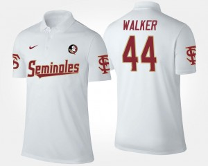 White #44 For Men DeMarcus Walker Florida State Seminoles Polo Name and Number