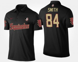 Men Name and Number Black Rodney Smith Florida State Seminoles Polo #84