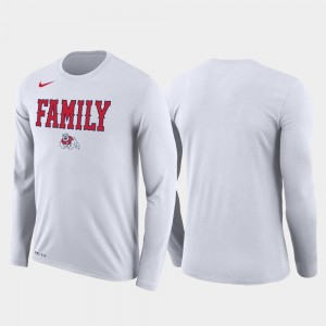 Mens March Madness Basketball Performance Long Sleeve Family on Court Fresno State Bulldogs T-Shirt White
