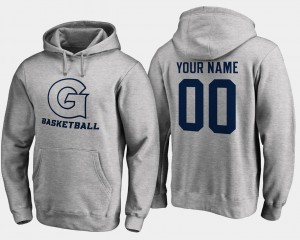 #00 Name and Number For Men's Hoyas Customized Hoodies Gray Basketball