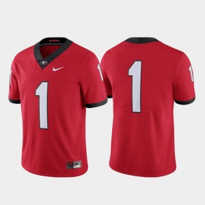UGA Bulldogs Jersey Limited #1 College Football Nike Red Mens