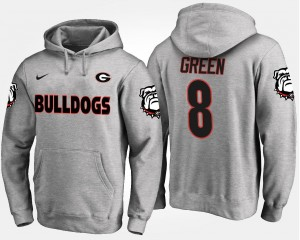 A.J. Green University of Georgia Hoodie For Men #8 Gray Name and Number