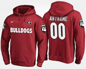 Name and Number For Men Georgia Bulldogs Customized Hoodie #00 Red