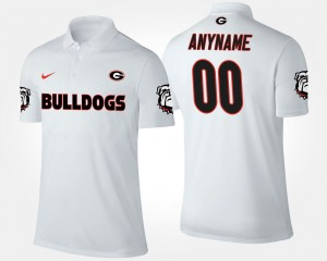 For Men's #00 Name and Number UGA Bulldogs Customized Polo White