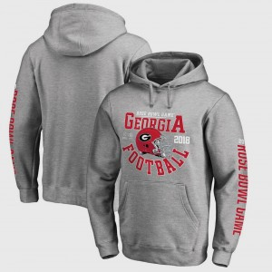 University of Georgia Hoodie For Men Bowl Game Gray College Football Playoff 2018 Rose Bowl Bound Down