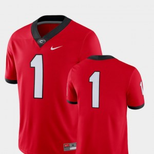 For Men 2018 Game Nike Georgia Jersey #1 College Football Red