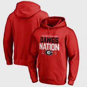 College Football Playoff 2018 Rose Bowl Bound Delay Bowl Game Red University of Georgia Hoodie For Men's