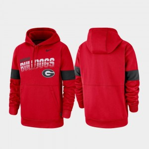 Pullover Nike University of Georgia Hoodie Red For Men's Performance