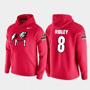 #8 For Men College Football Pullover Vault Logo Club Red Riley Ridley University of Georgia Hoodie